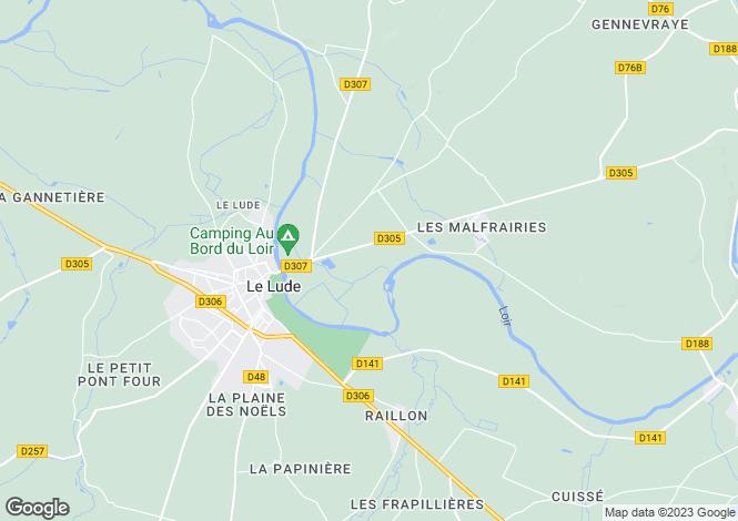 Map for Le Lude, Sarthe, Pays de la Loire