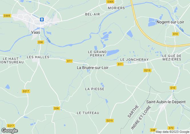 Map for la-bruere-sur-loir, , France