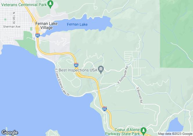 Map for USA - Idaho