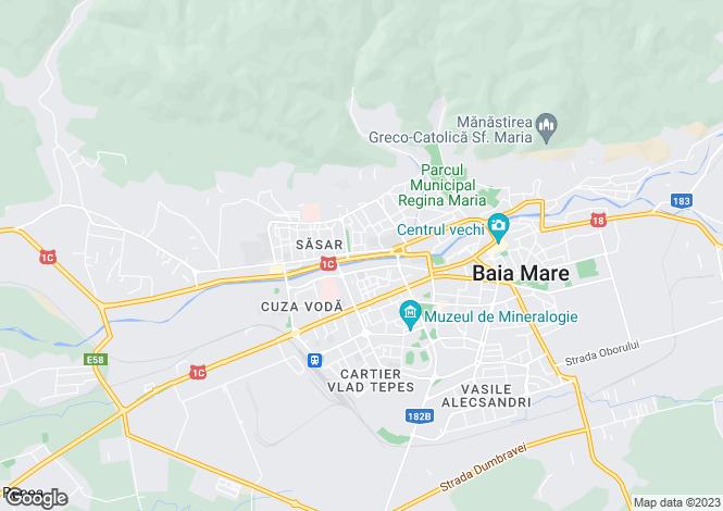 Map for Maramures, Baia Mare