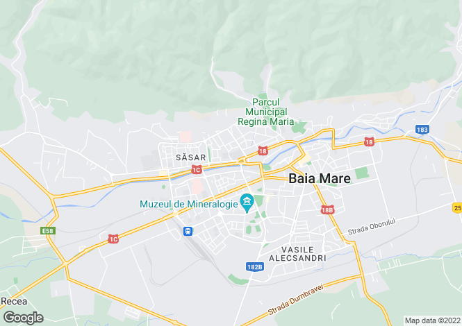 Map for Maramures, Baia Mare