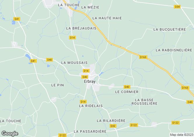 Map for erbray, Loire-Atlantique, France