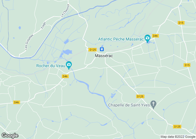 Map for masserac, Loire-Atlantique, France