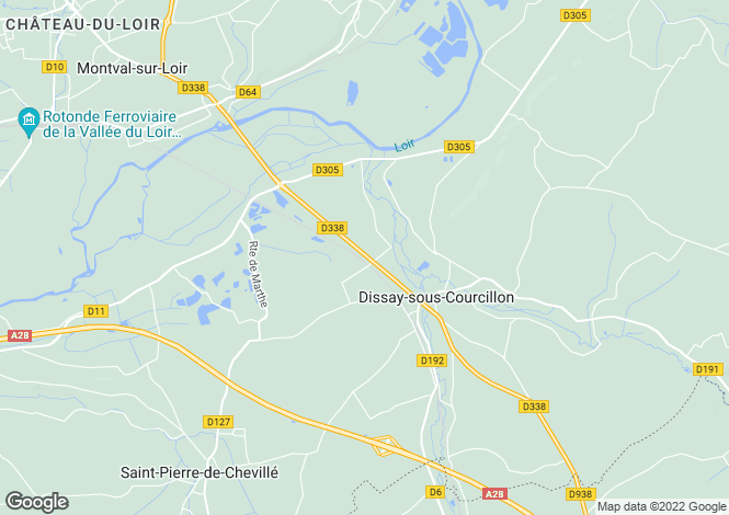 Map for dissay-sous-courcillon, Sarthe, France