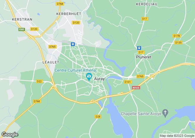 Map for AURAY, Bretagne