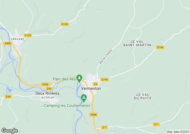 Map for Vermenton, Yonne, Burgundy