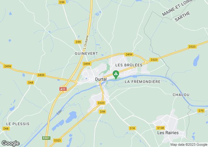 Map for Durtal,France
