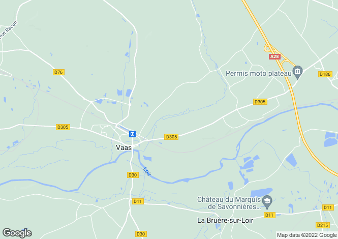 Map for vaas, Sarthe, France