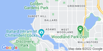Ballard Gutter Cleaning map