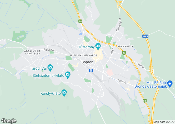 Map for Gyor-Moson-Sopron, Sopron, Hungary