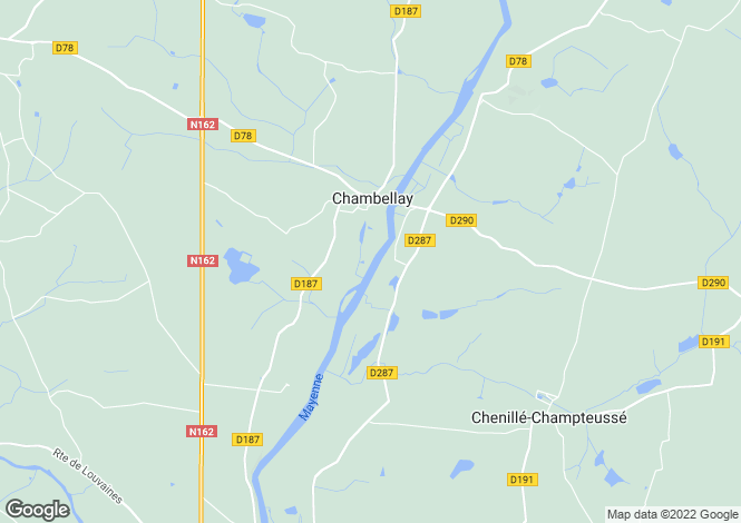 Map for chambellay, Maine-et-Loire, France