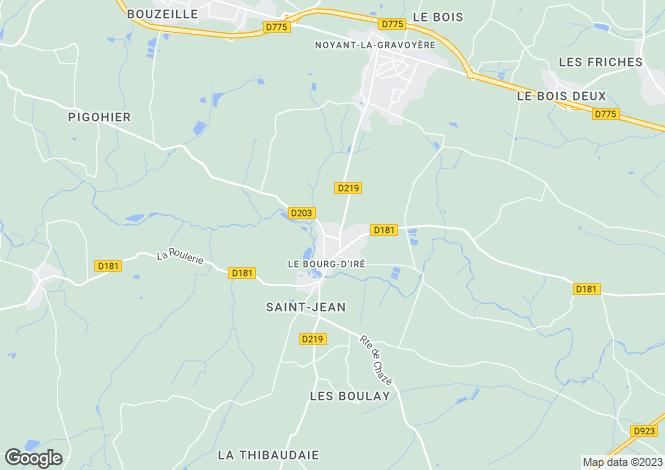 Map for le-bourg-d-ire, Maine-et-Loire, France