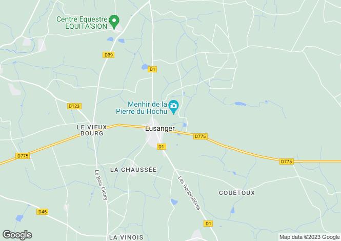 Map for Pays de la Loire, Loire-Atlantique, Lusanger