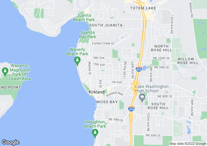 Map for USA - Washington, King County, Kirkland