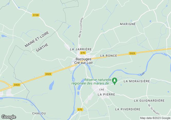 Map for bazouges-sur-le-loir, Sarthe, France