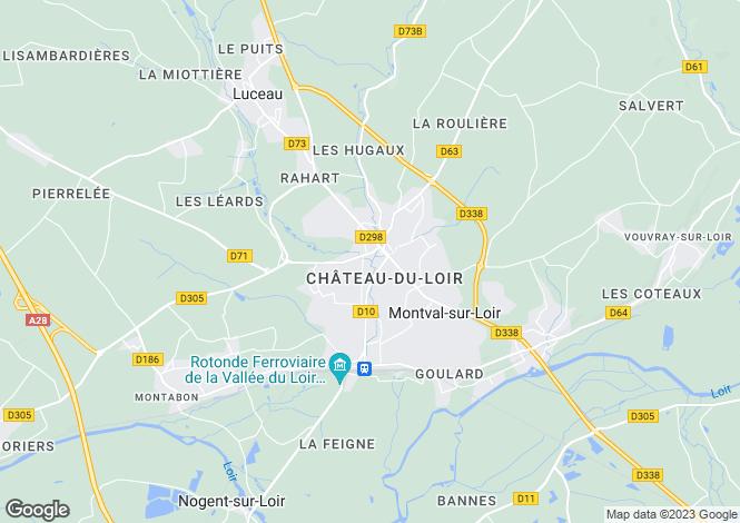 Map for Château-du-Loir, Sarthe, Pays de la Loire