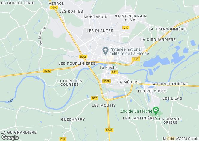 Map for La Flèche, Sarthe, Pays de la Loire