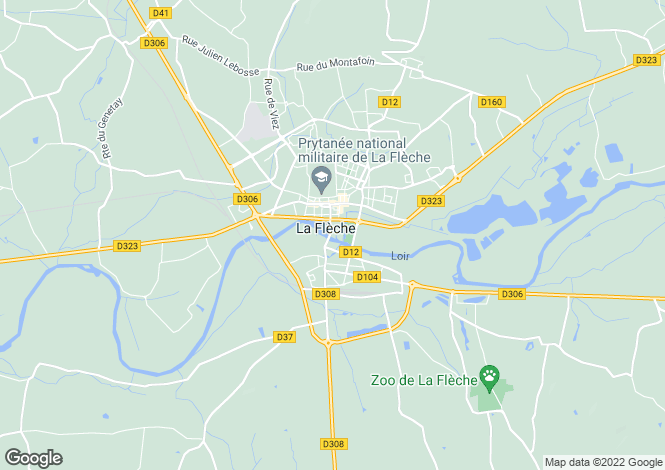 Map for Tours, Centre, 72200, France