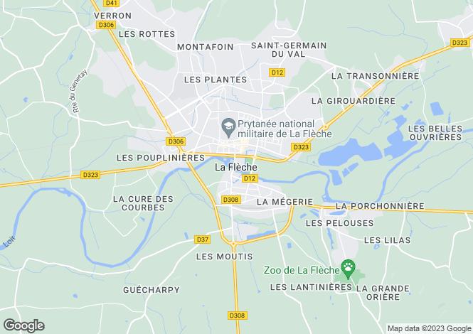 Map for La Fleche, Pays de la Loire, 72200, France