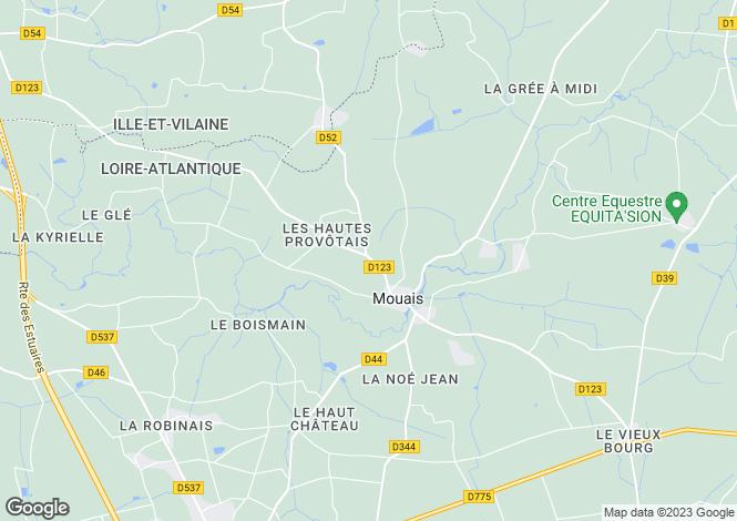 Map for mouais, Loire-Atlantique, France