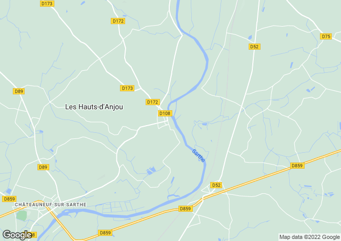 Map for brissarthe, Maine-et-Loire, France