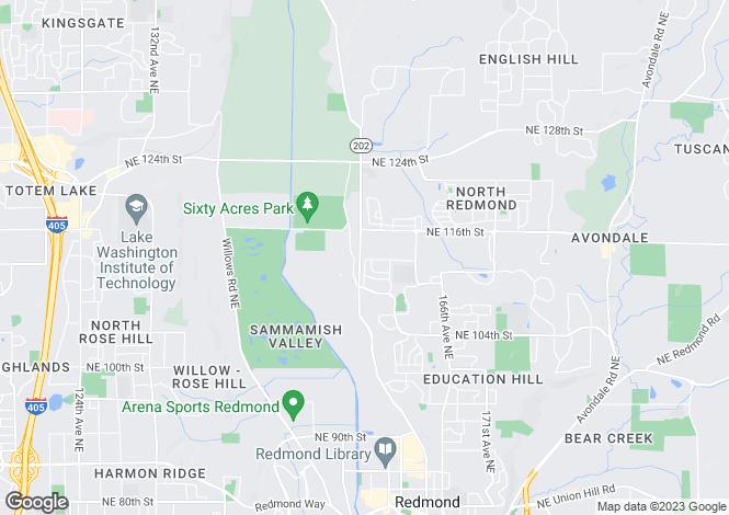 Map for USA - Washington, King County, Redmond