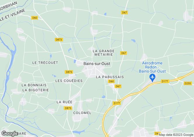 Map for bains-sur-oust, Ille-et-Vilaine, France