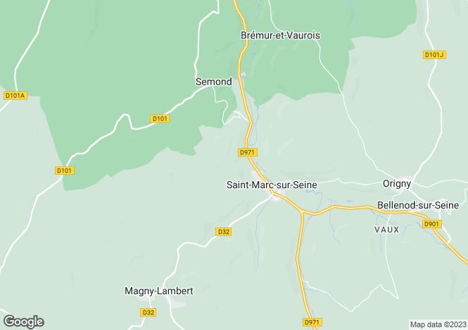 Map for 21450 st-marc-sur-seine