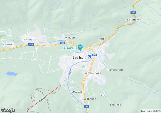 Map for Oberösterreich, Gmunden, Bad Ischl, Austria