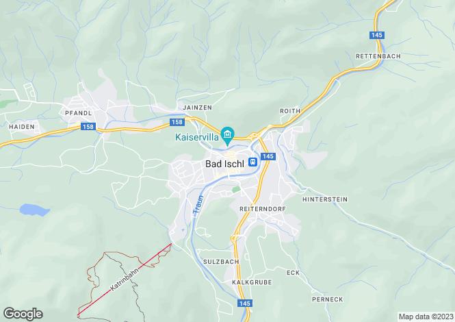Map for Oberösterreich, Salzburg-Umgebung, Bad Ischl, Austria