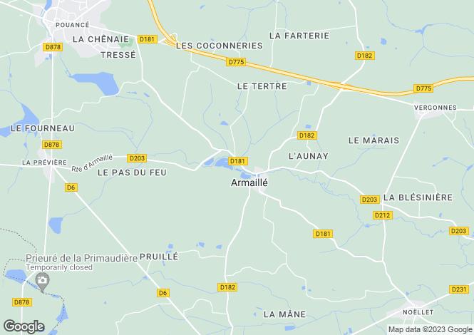 Map for armaille, Maine-et-Loire, France