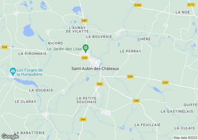 Map for st-aubin-des-chateaux, Loire-Atlantique, France