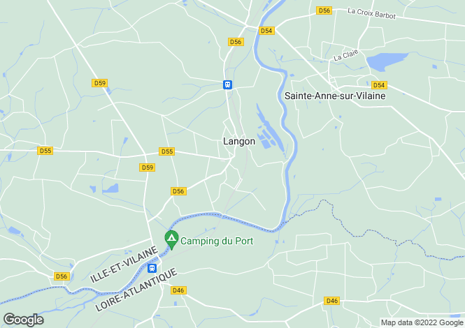 Map for langon, Ille-et-Vilaine, France