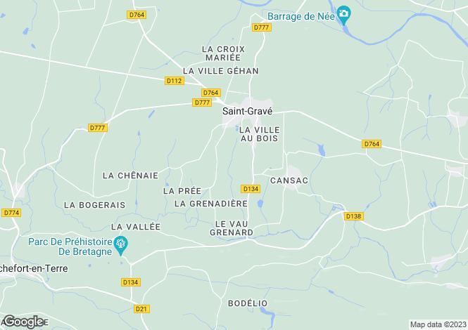 Map for st-grave, Morbihan, France