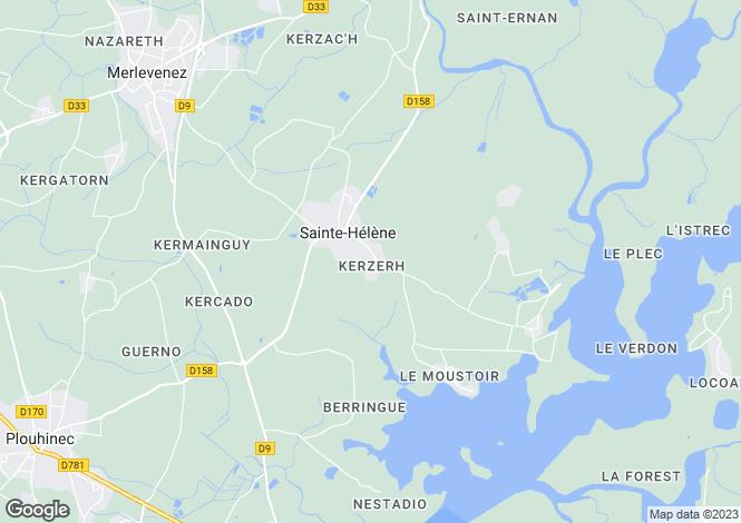 Map for Brittany, Morbihan, Ste-Hélène