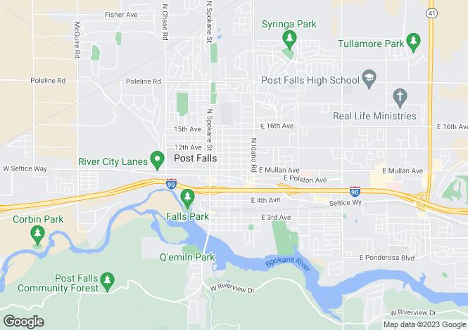 Map for USA - Idaho, Kootenai County, Post Falls