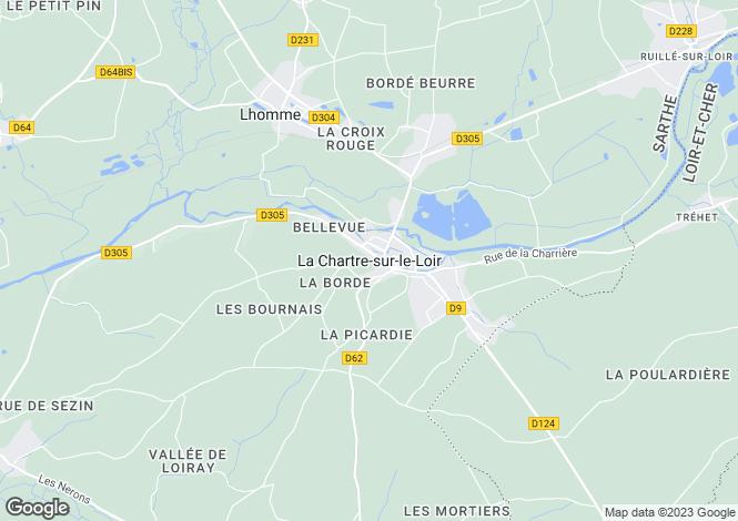Map for La Chartre-Sur-Le-Loir, Pays de la Loire, 72340, France