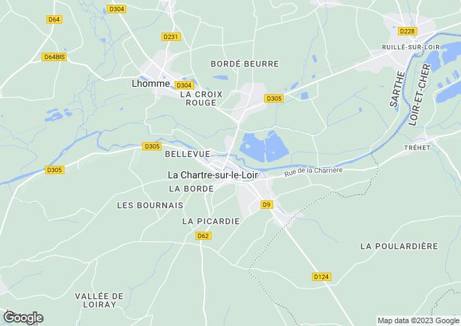 Map for La Chartre-sur-le-Loir, Sarthe, Pays de la Loire