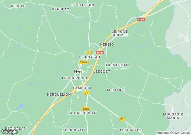 Map for ELVEN, Bretagne