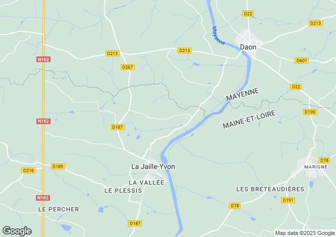 Map for la-jaille-yvon, Maine-et-Loire, France