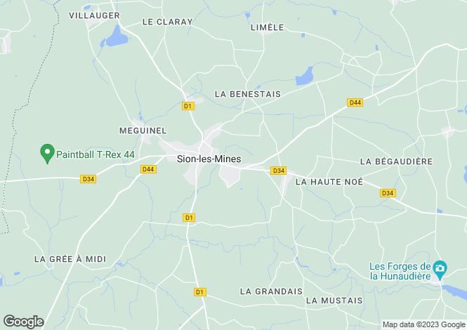 Map for sion-les-mines, Loire-Atlantique, France