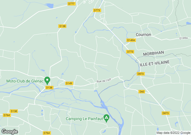 Map for glenac, Morbihan, France