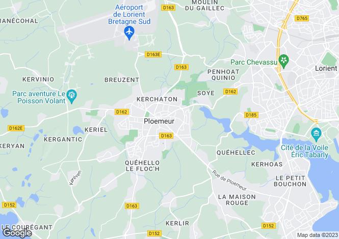 Map for ploemeur, Morbihan, France