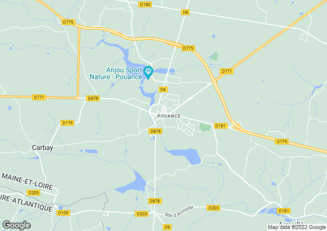 Map for pouance, Maine-et-Loire, France