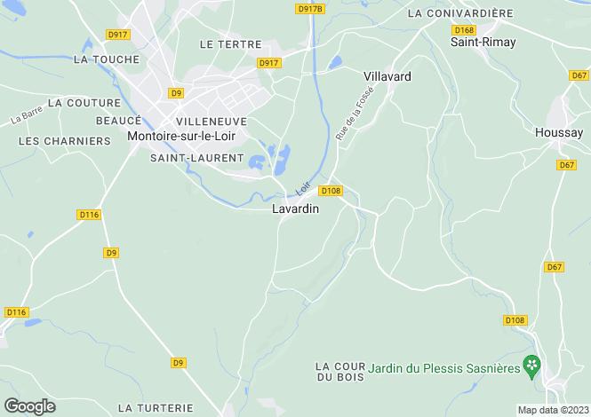 Map for Lavardin, Loir-Et-Cher, 41800, France