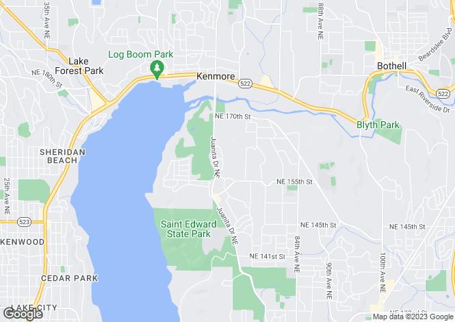 Map for USA - Washington, King County, Kenmore