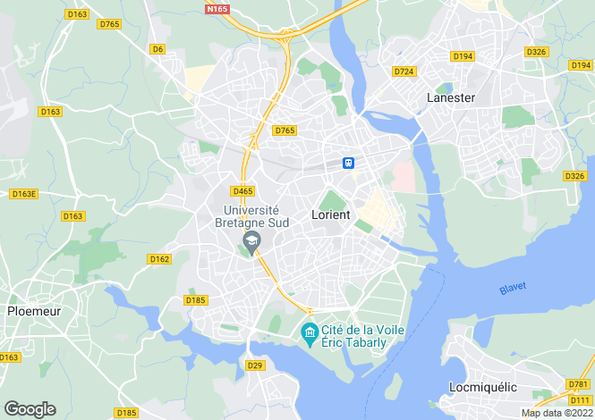 Map for LORIENT, Bretagne