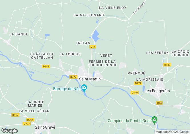 Map for Saint-Martin-sur-Oust, Morbihan, 56200, France