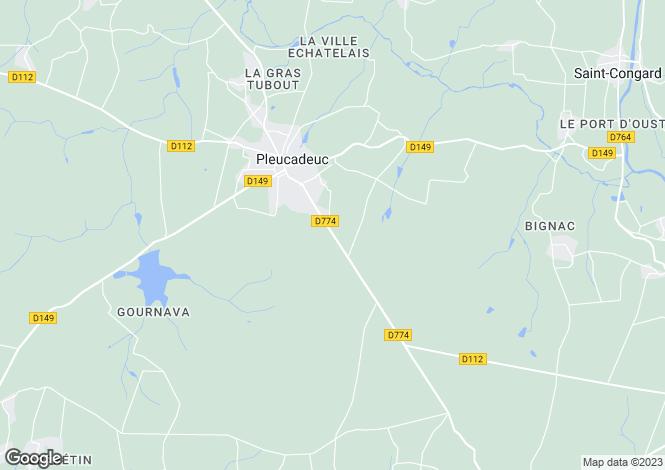 Map for pleucadeuc, Morbihan, France