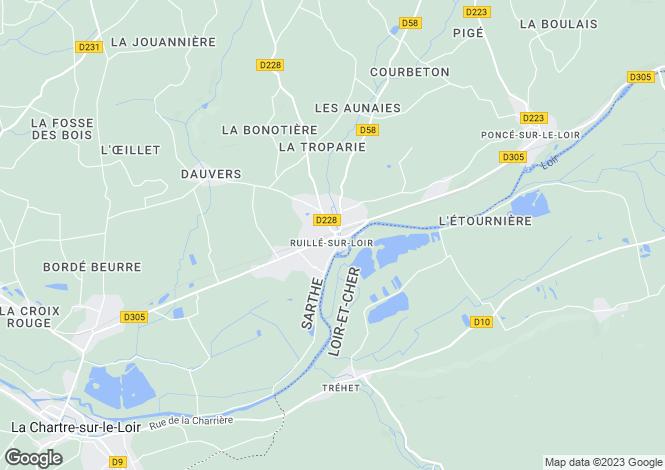 Map for ruille-sur-loir, Sarthe, France